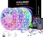 Amazon: 3x 5 Meter GLOBAL GOLDEN RGB LED Streifen mit APP Steuerung und Musik Sync für nur 11,49 Euro statt 22,99 Euro