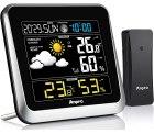 Amazon: Anpro Funk Wetterstation mit Sensor für Innen und Außentemperatur und Wettervorhersage mit Gutschein für nur 25,99 Euro statt 39,99 Euro