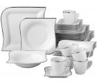 LIDL: Van Well Kombiservice Porzellan 30 Teile Silverline für nur 79,99 Euro statt 144,95 Euro bei Idealo
