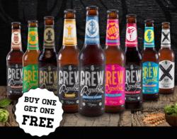 Newsletter bei Crew Republic abonnieren, eine Kiste Bier bestellen, zweite Kiste gratis bekommen
