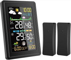 Amazon: BALDR Wetterstation mit 2 Funk Außensensoren und Wettervorhersage mit Gutschein für nur 16,49 Euro statt 36,99 Euro