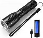 Amazon: MOWETOO Taktische Wiederaufladbare LED Taschenlampe mit Akku...