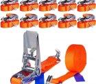 Ebay: 10 x 6m 800kg Spanngurte mit Ratsche und Haken für nur 29,99 Euro statt 36,97 Euro bei Idealo