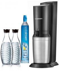 Ebay: SodaStream Crystal 2.0 titan mit 2 Glaskaraffen & Zylinder mit Gutschein für nur 67,88 Euro statt 91,03 Euro bei Idealo
