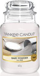 Yankee Candle Duftkerze im Glas (groß) | Baby Powder für 16,99€ (PRIME) statt PVG  laut Idealo 24,95€ @amazon